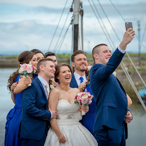 Selfie Time! by Paul Duane - Wedding Groups ( selfie, ireland, bridal, happy, wedding, camera, candid, fun )