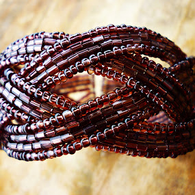The Beads by Arifah Mardiningrum - Artistic Objects Clothing & Accessories ( bracelet, accessory, plait, beads, brown,  )
