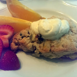 Cranberry, Apple and Walnut Scones with Orange Glaze Infused Whipped Cream Recipe