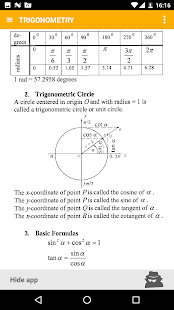 Math - complete pocket guide Screenshot