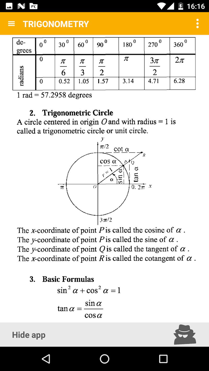 Math - complete pocket guide Screenshot 2