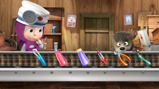 Masha and the Bear: Free Dentist Games for Kids apkpoly screenshots 9