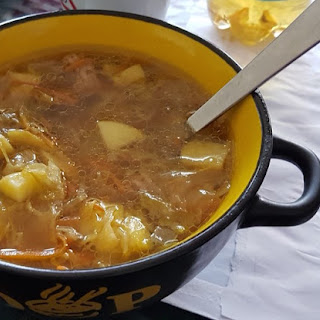 German Ground Beef Cabbage Soup.