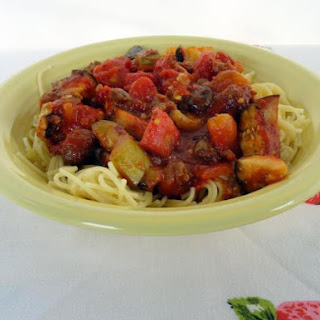 Spicy Ratatouille with Sausage & Spaghetti