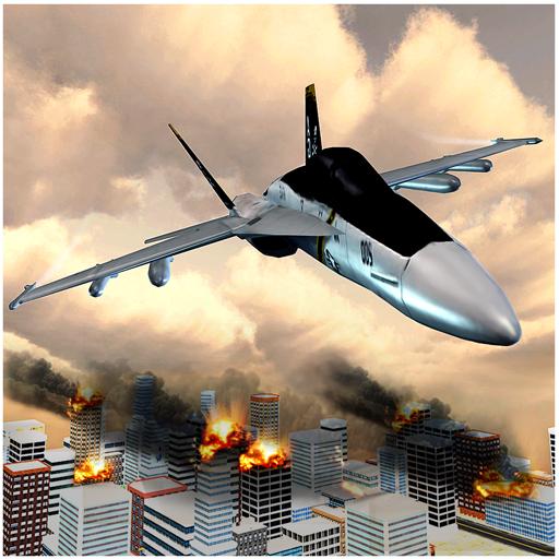 喷气战斗机市攻击 動作 App LOGO-APP試玩