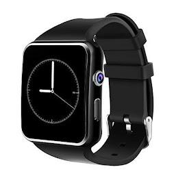 Ceas Smartwatch X6 Black, Ecran curbat, Camera, Bluetooth