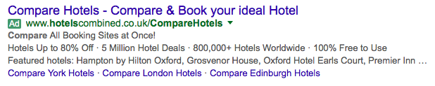 Structured Snippet Examples for hotels