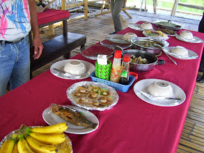 Photo: Lunch on a River Boat in Roxas City, arranged by the city Mayor.