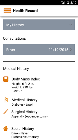 android STAT-MD eClinic Screenshot 2