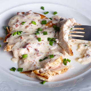 Chicken with Bacon Chive Cream Sauce.