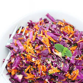 Thai Sesame Red Cabbage and Carrot Salad.
