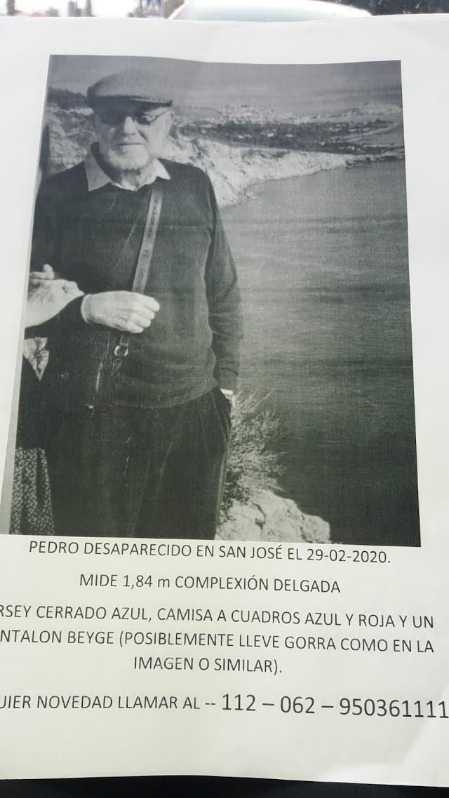 Cartel con el que se busca a Pedro Morales.
