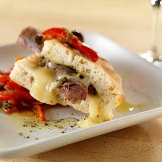 Bronze Fennel Sausage Sandwich with Peperonata.
