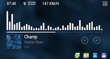 Bit Music - theme for CarWebGuru Launcher - Paid Android app | AppBrain