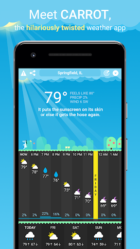 CARROT Weather screenshot for Android