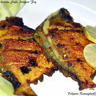 Kerala style Whole Pomfret Fry