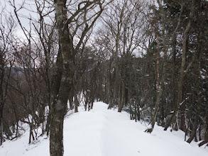 雪が深くなるがツボ足で問題なし