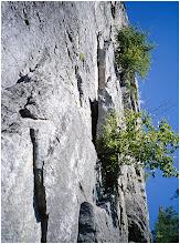 Photo: Conn's East 5.5; a first pitch. Seneca Rocks, WV. 5.5 Aug. 1, 2004 FujiGA645ZI.
