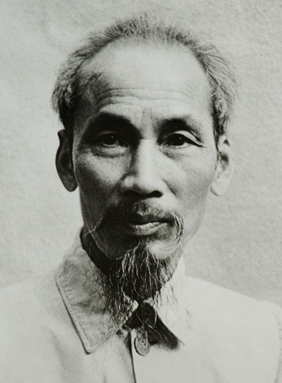 Photograph of Ho Chi Minh at the beginning of the Vietnamese revolt against the French.