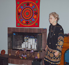 Photo: Yehudit and the altar.jpg