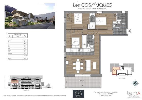 Vente appartement 4 pièces 76,2 m2