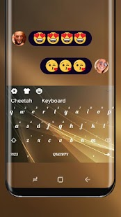 Luxury Gold keyboard for Vivo X20 - náhled