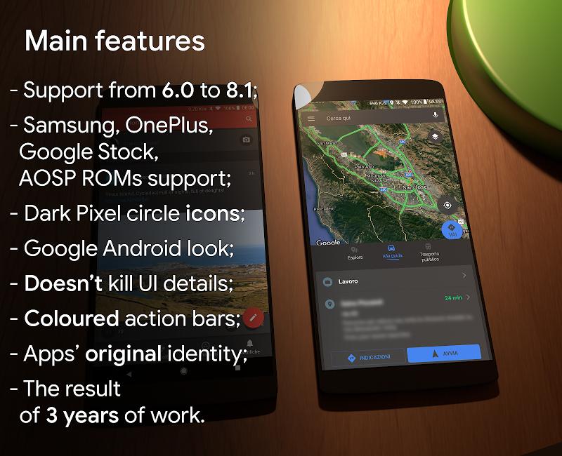 Substratum Dark Theme +Samsung,Oreo,Pixel [aospUI] Screenshot 0