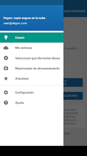 100 GB de respaldo gratis Degoo Screenshot