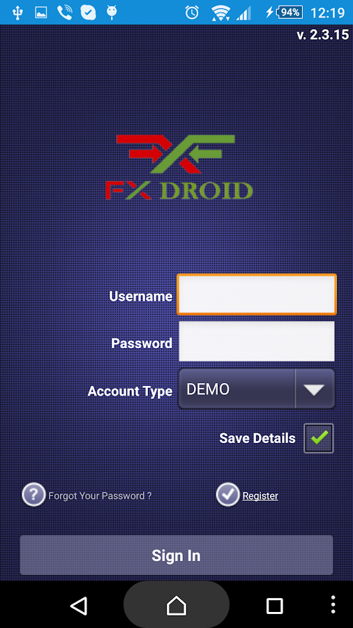 FX Droid- screenshot