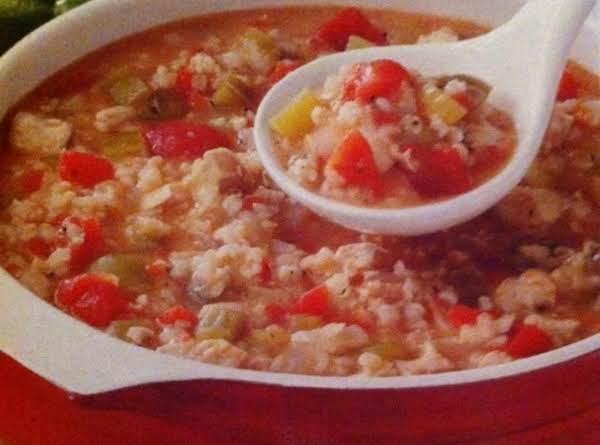 Tomato & Chicken Rice Soup Recipe