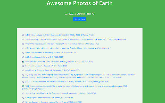 Awesome Photos of Earth
