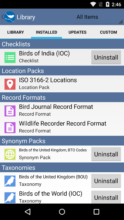 Bird Journal- screenshot
