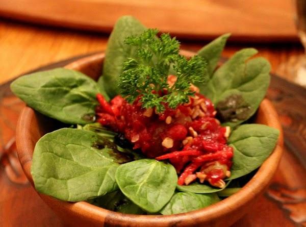 Cranberry Compote Spinach Salad Recipe