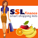 Home finance and shopping lists icon