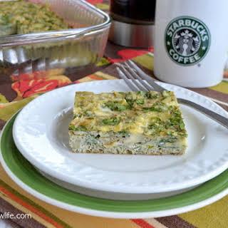 Spinach Artichoke Egg Casserole.