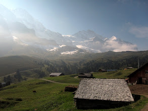 Photo: The Monch (13,474 ft.) and the distant Jungfrau (13,641 ft.)