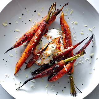 Spice-Crusted Carrots with Harissa Yogurt