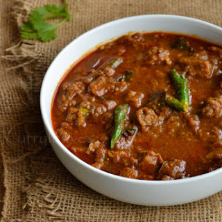 Thattukada Style Beef Curry.