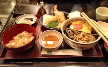 Photo: Huge Soba and Tempura meal - from near Kyoto station