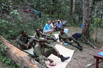 Photo: All of the scouts enjoying lunch before our departure