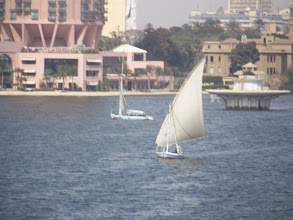Photo: Boats on the Nile.