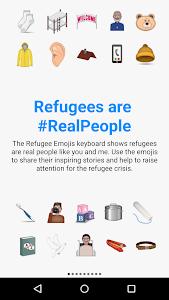 Refugee Emojis Keyboard screenshot 0