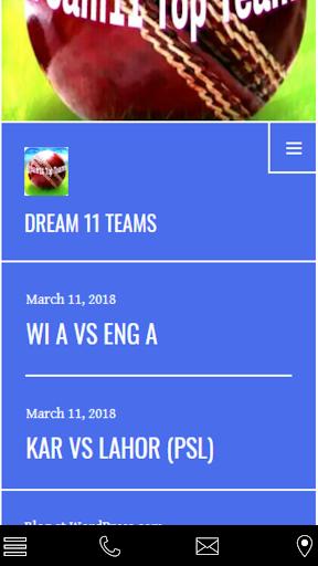 Dream11 Teams 1.1.0 screenshots 2