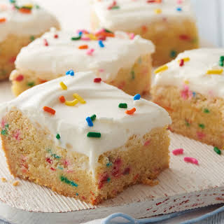 Cake Batter Cookie Bars.