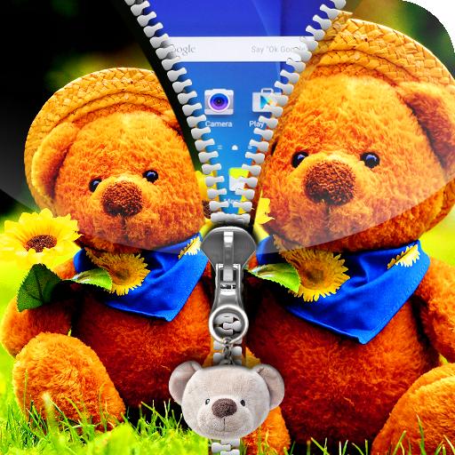 泰迪熊拉链锁屏 工具 App LOGO-硬是要APP