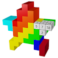 3D Color by Number: Voxel, Unicorn, Pixel Art 3D apk