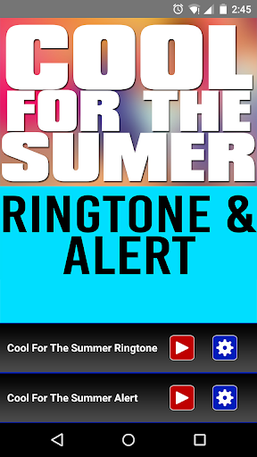 Cool For The Summer Ringtone