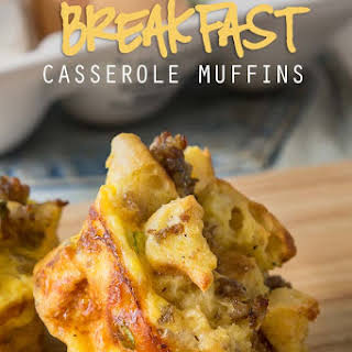 Sausage Egg and Cheese Breakfast Casserole Muffins.