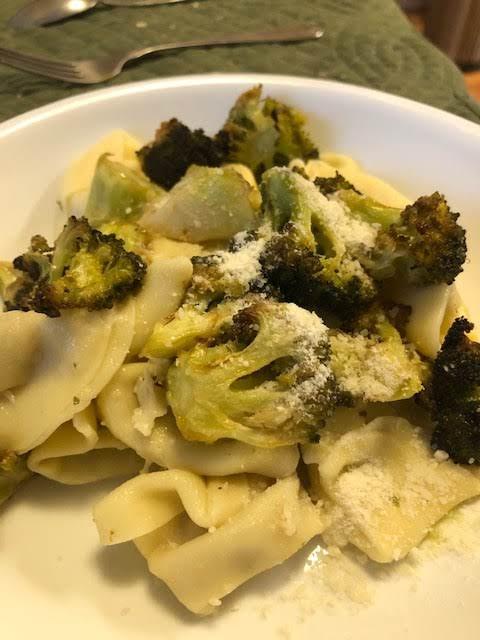 Roasted Broccoli With Lemon  Tortelini