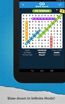 Infinite Word Search Puzzles apk screenshot